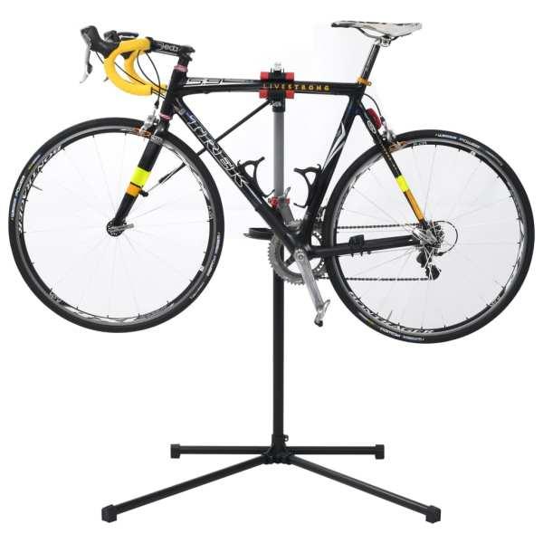 vidaXL Suport reparație bicicletă, negru, 104x68x(110-190) cm, oțel
