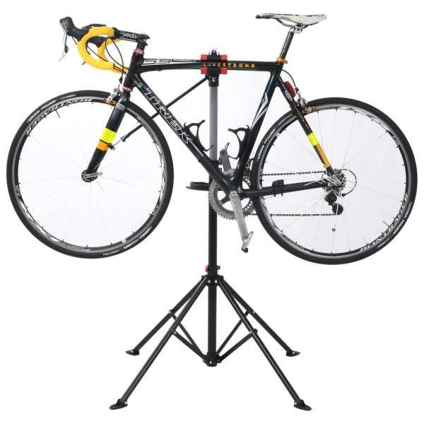 vidaXL Suport reparații bicicletă, negru, 103x103x(115-200) cm, oțel