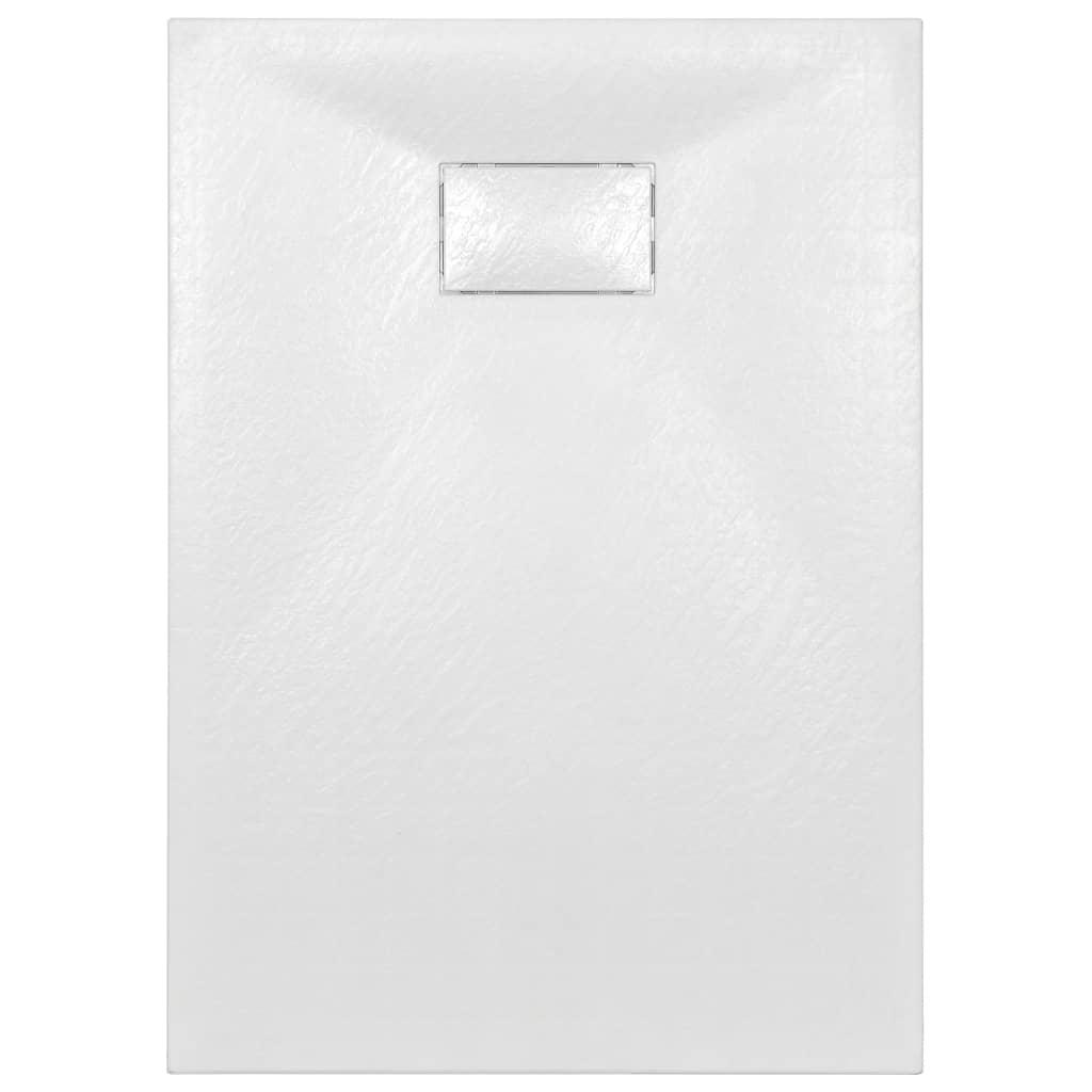 Cădiță de duș, alb, 100 x 70 cm, SMC