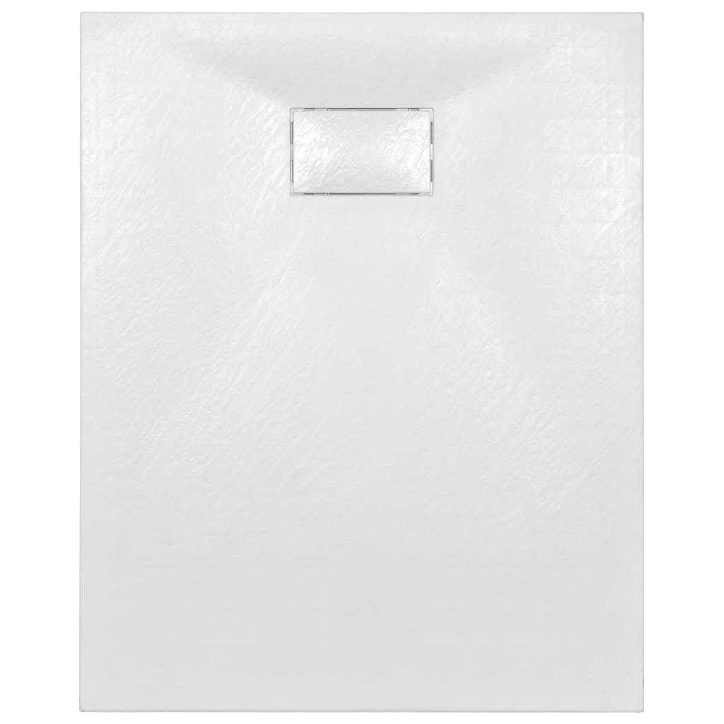 Cădiță de duș, alb, 100 x 80 cm, SMC