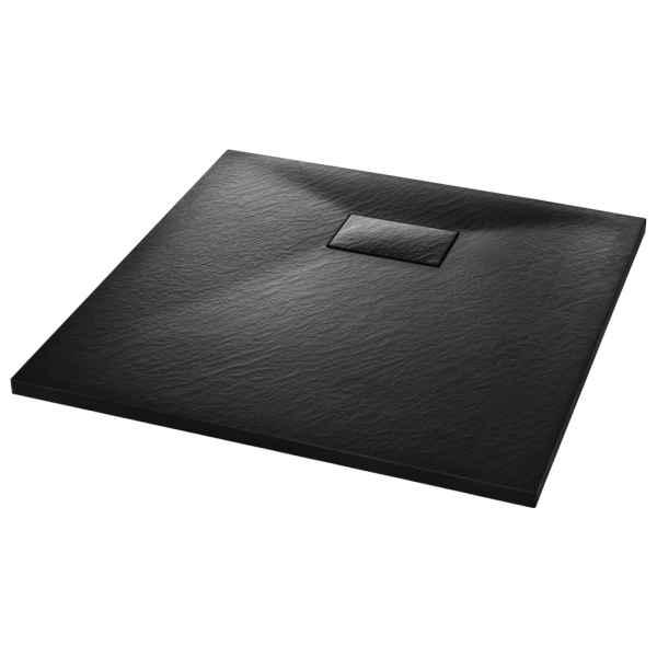 Cădița de duș, negru, 80 x 80 cm, SMC