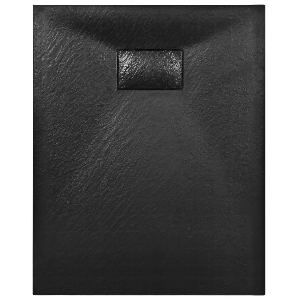 vidaXL Cădiță de duș, negru, 100 x 70 cm, SMC