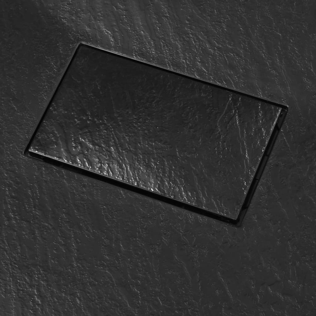Cădiță de duș, negru, 100 x 80 cm, SMC