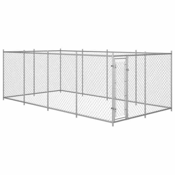 vidaXL Padoc pentru câini de exterior, 8 x 4 x 2 m