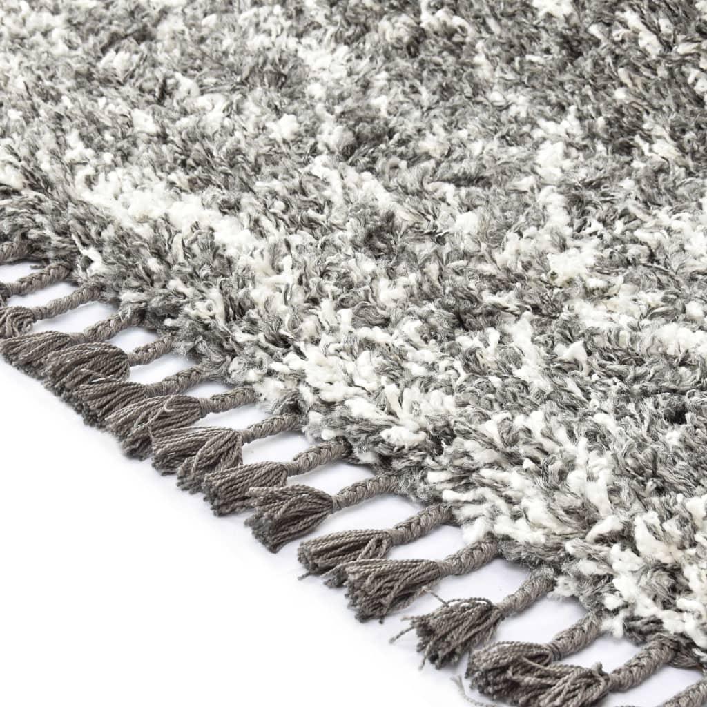 Covor berber lățos, gri și bej, 80 x 150 cm, PP