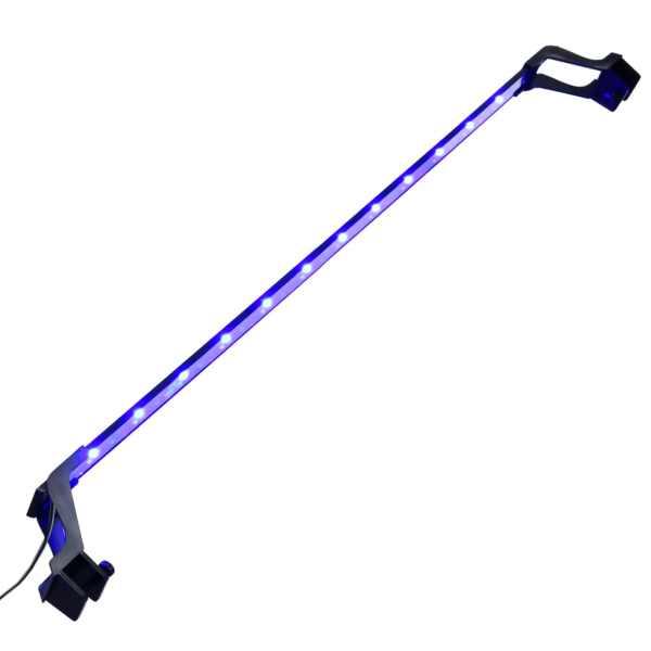 vidaXL Lampă LED pentru acvariu, cu cleme, albastru/alb, 90-105 cm