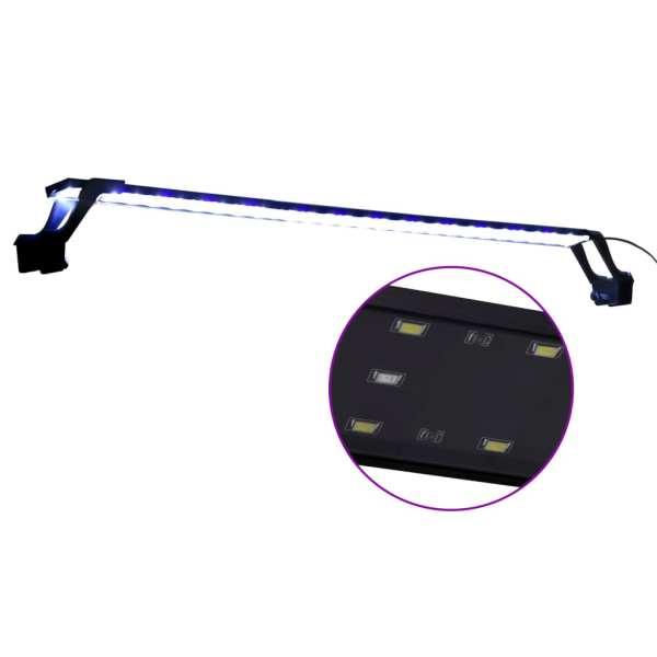 Lampă LED pentru acvariu, cu cleme, albastru/alb, 90-105 cm
