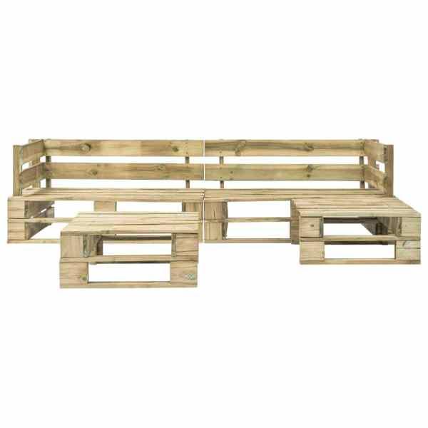 Set mobilier de grădină din paleți, 4 piese, lemn