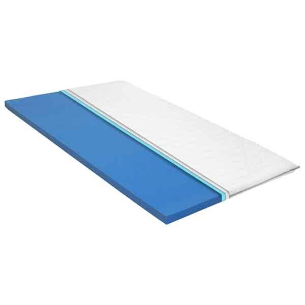 vidaXL Topper saltea, 100 x 200 cm, spumă cu memorie Visco, 6 cm