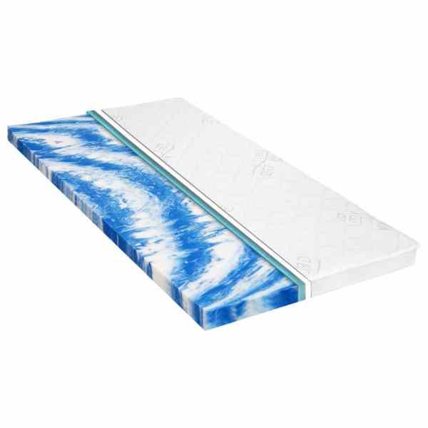 vidaXL Topper saltea, 140×200 cm, spumă gel, 7 cm