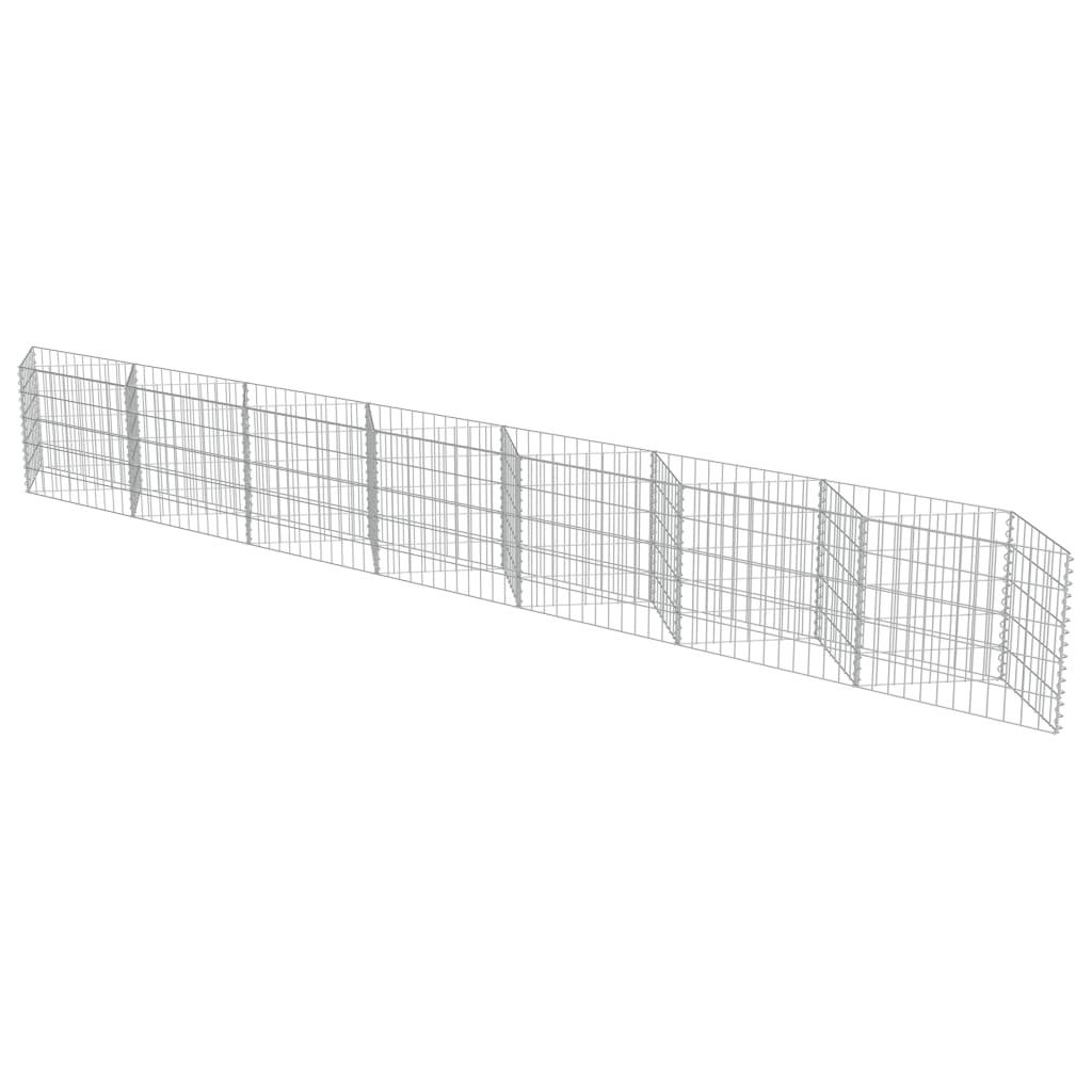 Gabion perete, oțel galvanizat, 450 x 30 x 50 cm