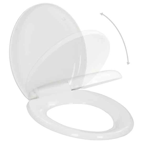 vidaXL Capac WC, închidere silențioasă, eliberare rapidă, alb