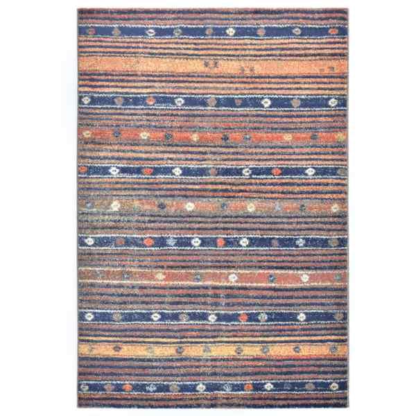 vidaXL Covor, albastru și portocaliu, 80 x 150 cm, PP