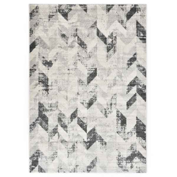 vidaXL Covor, gri și alb, 160 x 230 cm, PP