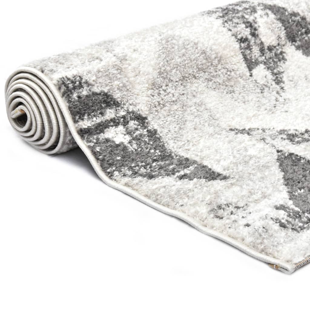 Covor, gri și alb, 160 x 230 cm, PP