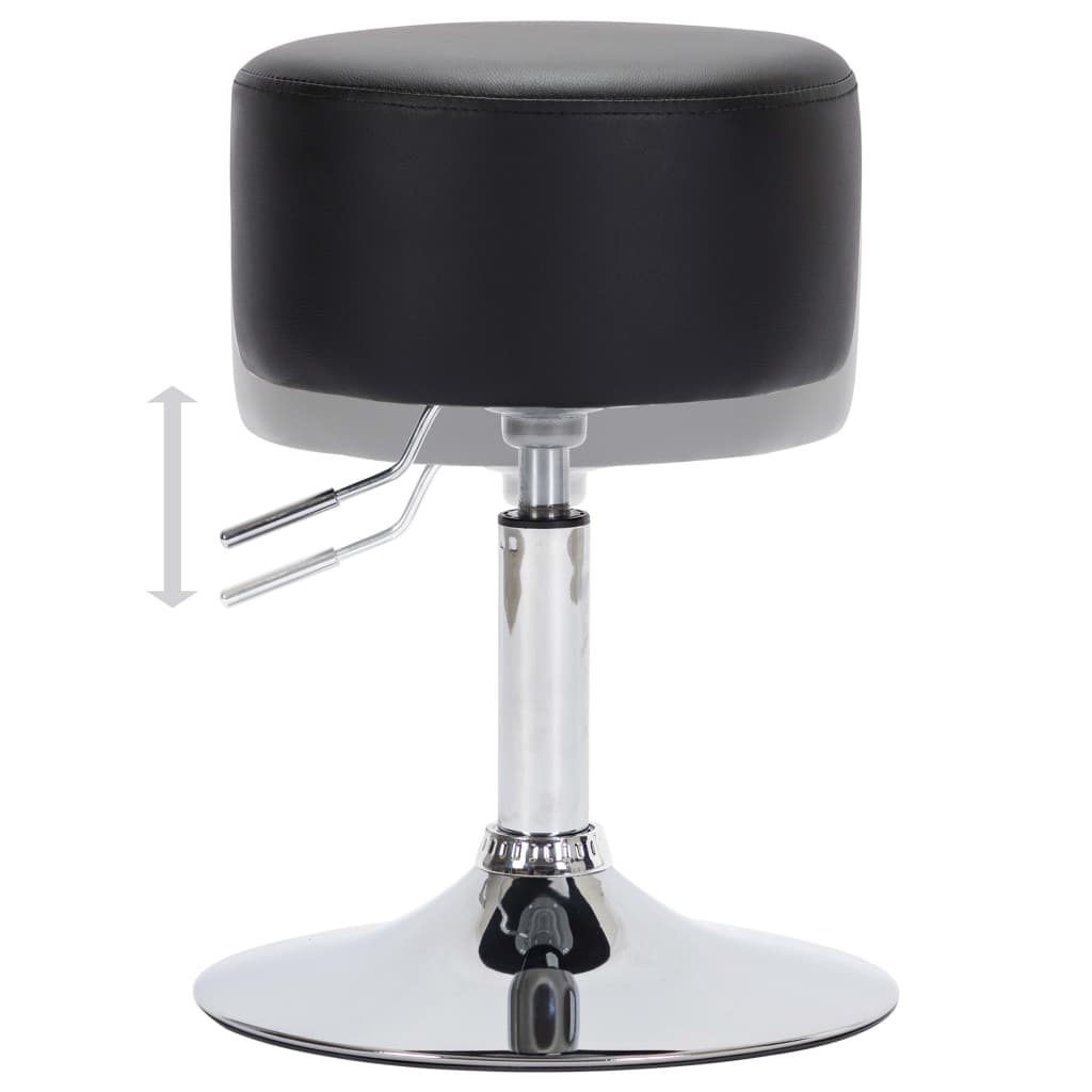 vidaXL Scaune de bar, 2 buc., negru, piele artificială