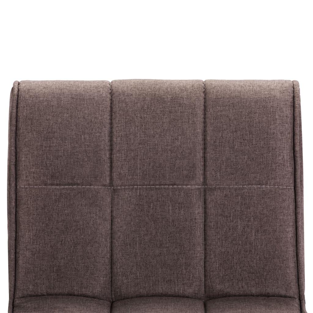vidaXL Scaune de bar, 2 buc., gri taupe, material textil