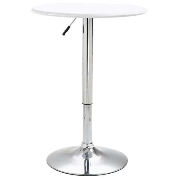 vidaXL Masă de bar, alb, Ø60 cm, MDF