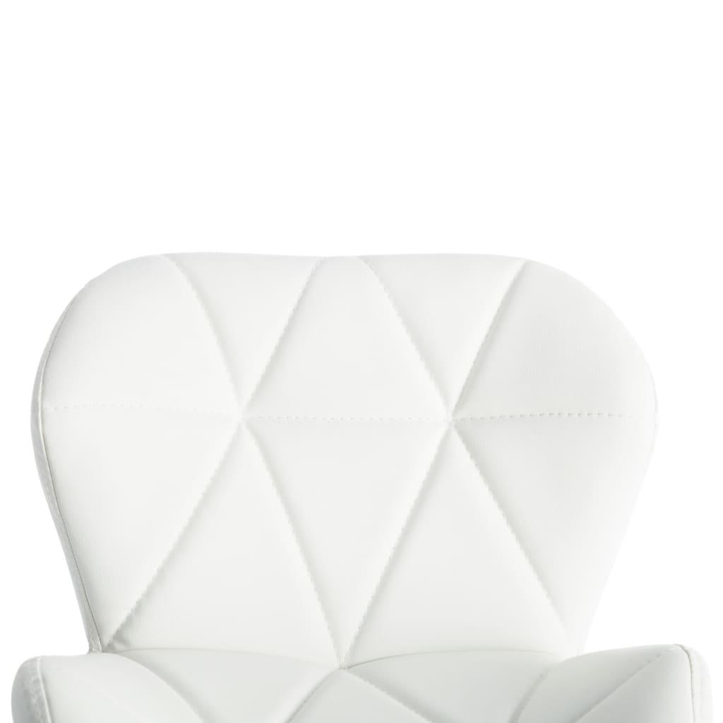 Scaun de bar, alb, piele ecologică
