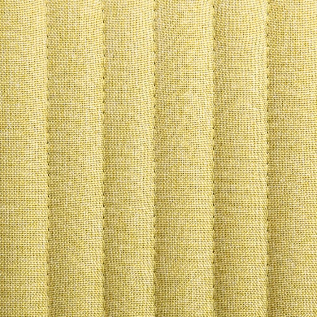 vidaXL Scaune de bucătărie, 2 buc., verde, material textil