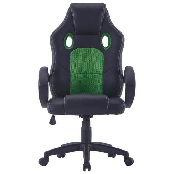 Scaun de gaming, verde, piele ecologică