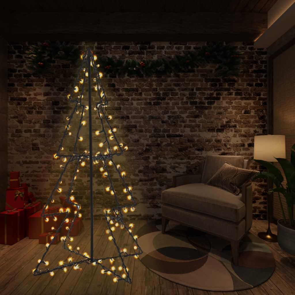 vidaXL Brad Crăciun conic 115×150 cm, 240 LED-uri, interior & exterior