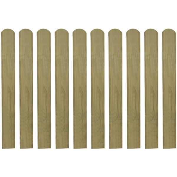 Șipci de gard din lemn tratat, 20 buc., 80 cm