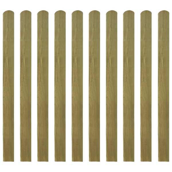 vidaXL Șipci de gard din lemn tratat, 20 buc., 120 cm