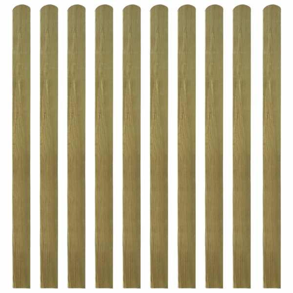 vidaXL Șipci de gard din lemn tratat, 20 buc., 140 cm