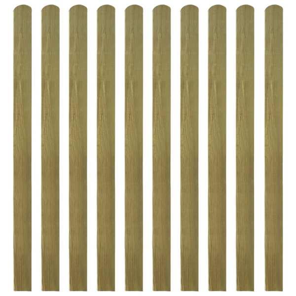 vidaXL Șipci de gard din lemn tratat, 30 buc., 140 cm