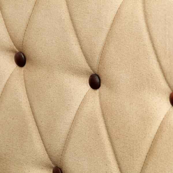 Canapea chesterfield cu 2 locuri, maro, piele naturală