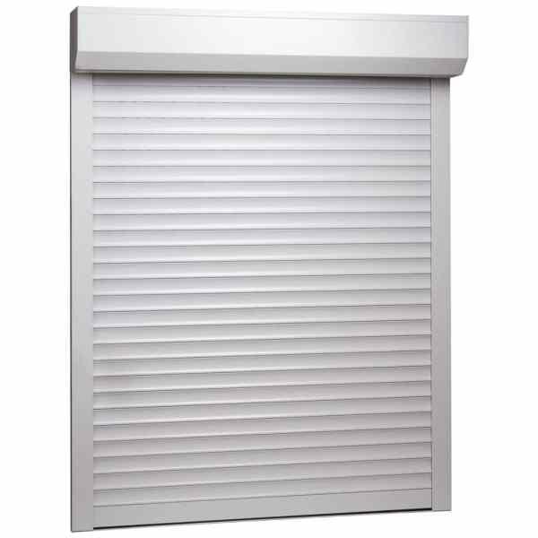 vidaXL Oblon rulant, alb, 100 x 130 cm, aluminiu