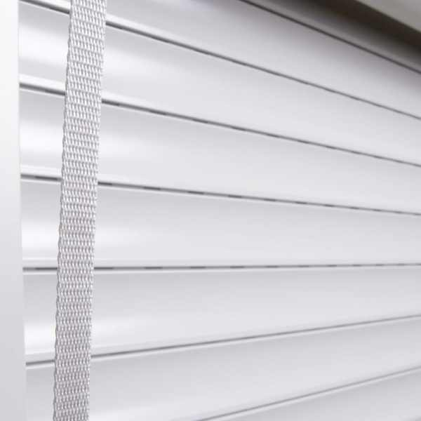Oblon rulant, alb, 160 x 150 cm, aluminiu