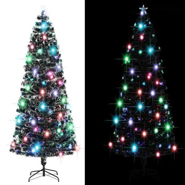 vidaXL Brad de Crăciun artificial cu suport/LED, 240 cm, 380 ramuri