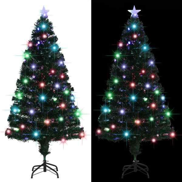 vidaXL Brad artificial de Crăciun cu suport/LED, 150 cm, 170 ramuri