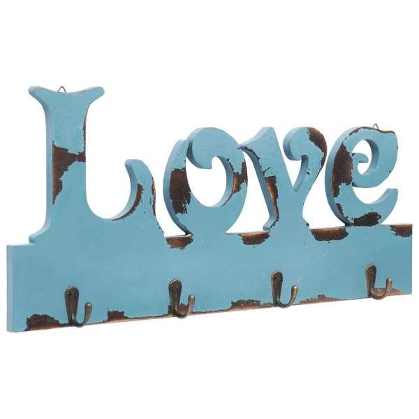 vidaXL Cuier de perete LOVE, 50 x 23 cm