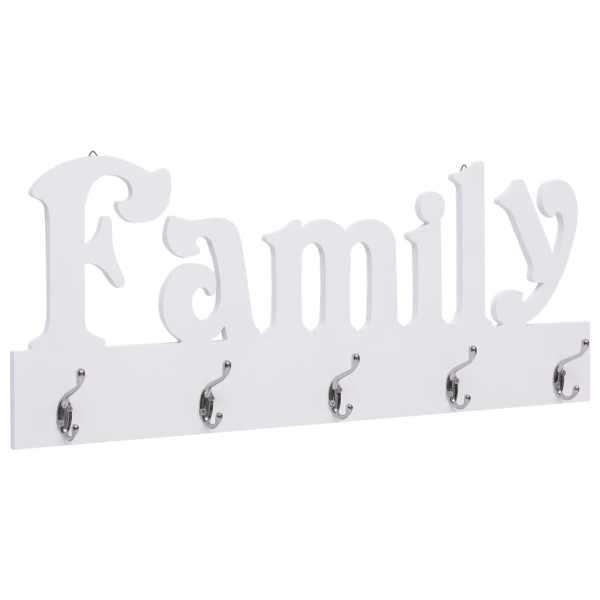 vidaXL Cuier de perete FAMILY, 74 x 29,5 cm