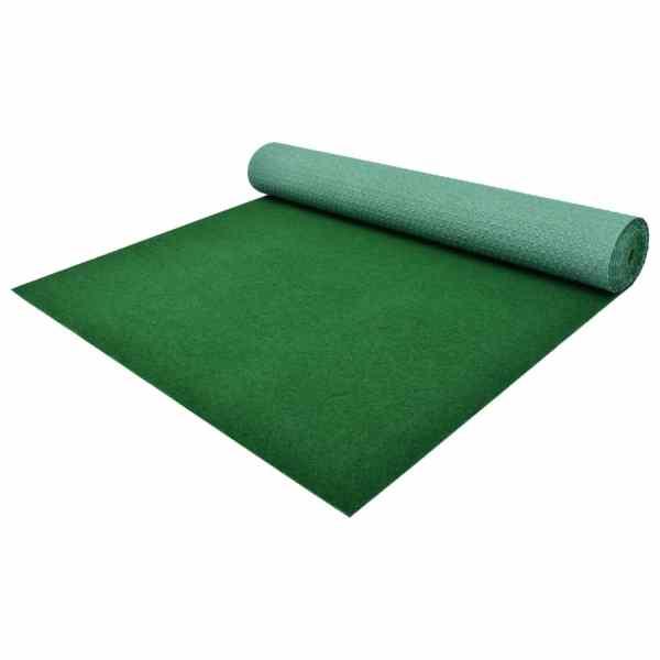 vidaXL Gazon artificial cu crampoane, verde, 5 x 1 m, PP