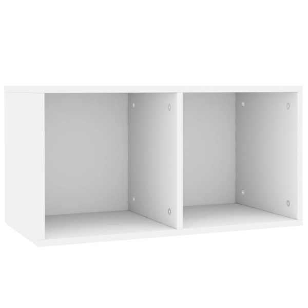 Cutie pentru depozitare vinyl-uri, alb, 71 x 34 x 36 cm, PAL