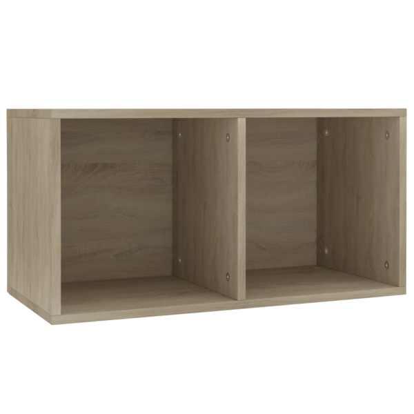 Cutie depozitare vinyl-uri, stejar Sonoma, 71 x 34 x 36 cm, PAL