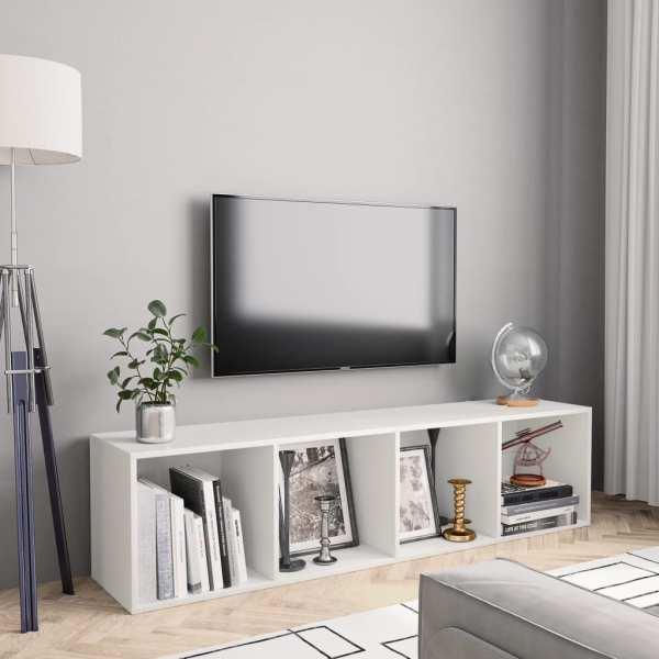 vidaXL Bibliotecă/Comodă TV, alb, 143 x 30 x 36 cm