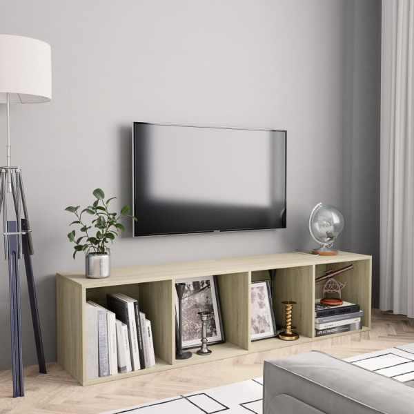 vidaXL Bibliotecă/Comodă TV, stejar Sonoma, 143 x 30 x 36 cm