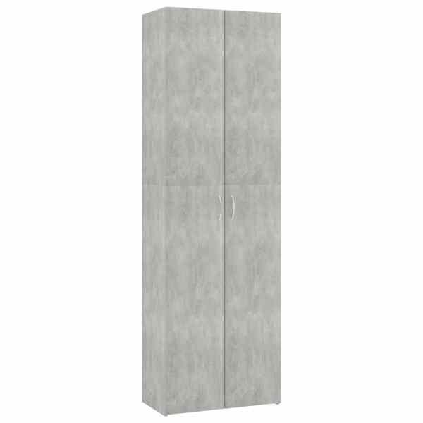Dulap de birou, gri beton, 60x32x190 cm, PAL