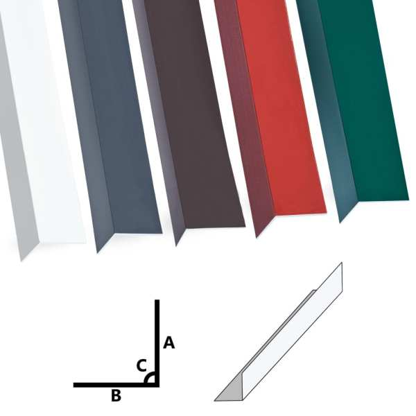Profile de colț în L 90° 5 buc. alb 170 cm 50×50 mm aluminiu