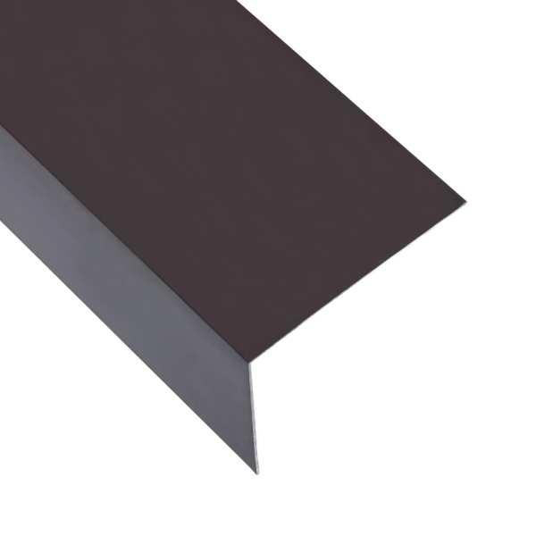 vidaXL Profile de colț în L 90° 5 buc. maro 170 cm 100×50 mm aluminiu