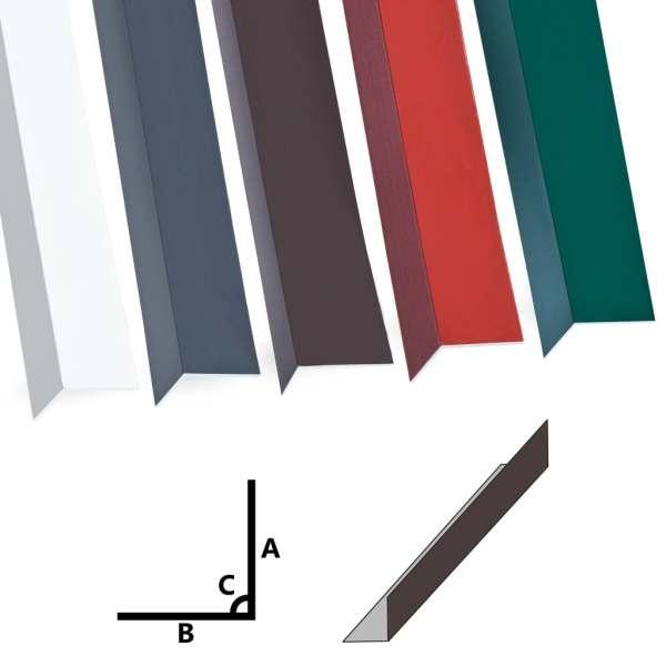 Profile de colț în L 90° 5 buc. maro 170 cm 100×50 mm aluminiu
