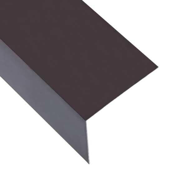 vidaXL Profile de colț în L 90° 5 buc maro 170 cm 100×100 mm aluminiu
