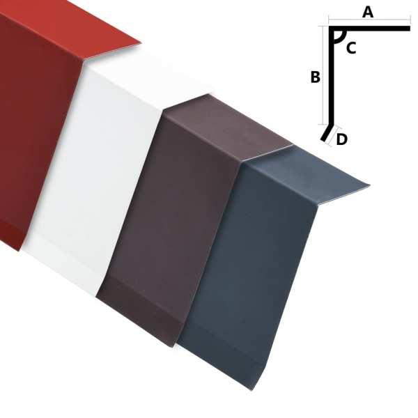 vidaXL Plăci bordură acoperiș în L, 5 buc., alb, 170 cm, aluminiu