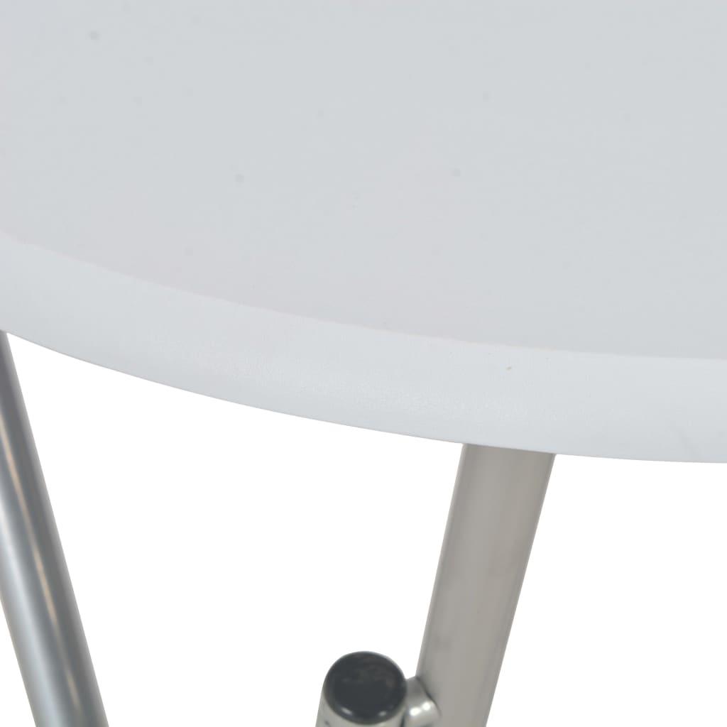 vidaXL Masă de bar, alb, 60 x 112 cm, MDF