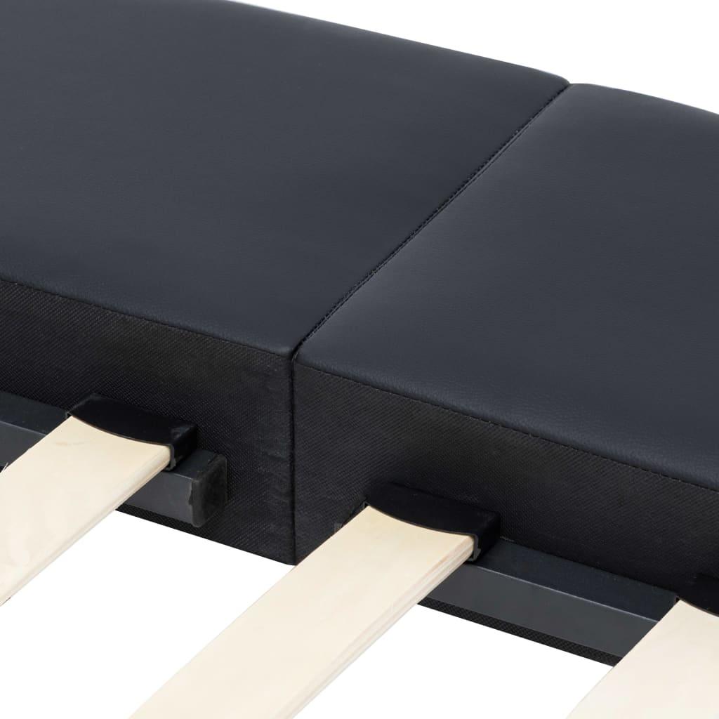 Cadru de pat, negru, 180 x 200 cm, piele artificială